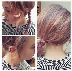 Pretty pink braids