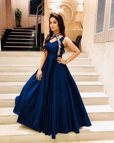 Evening Gowns just for you Indian Wedding Gowns, Indian Gowns Dresses, Prom Dresses, Dress Indian Style, Indian Outfits, Designer Gowns, Indian Designer Wear, Stylish Dresses, Fashion Dresses