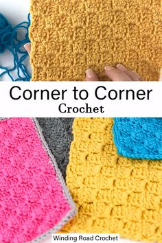 Learn how to corner to corner crochet with this video and photo tutorials plus some great practice projects that are perfect for mastering this crochet stitch. lernen anfänger video How to Corner to Corner Crochet for Beginners: Step by Step Tutorial Bag Crochet, Crochet Crafts, Free Crochet, Crochet Stitches Patterns, Stitch Patterns, Knitting Patterns, Crochet C2c Pattern, C2c Crochet Blanket, Crochet Stitches For Blankets