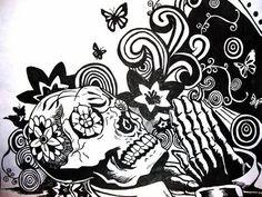 Dia De Los Muertos - drawing Photo