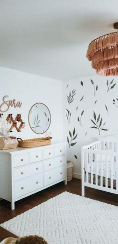 Baby Nursery Decor, Baby Bedroom, Baby Boy Rooms, Nursery Furniture, Baby Decor, Baby Nursery Ideas For Girl, Nursery Room Ideas, Nursery Decals Girl, Ikea Nursery
