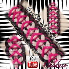 Rainbow Loom/ monster tail Don't Push The River Bracelet Tutorial Rainbow Loom Tutorials, Rainbow Loom Patterns, Rainbow Loom Creations, Rainbow Loom Bands, Rainbow Loom Charms, Rainbow Loom Bracelets, Loom Band Patterns, Loom Bracelet Patterns, Rubber Band Crafts