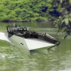 Quadrimaran work boat / outboard / aluminum T-14 Baroudeur Tera-4
