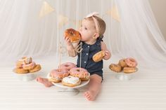 Grab some donuts - Birthday Cake Smash Ideas Worth Stealing for Your Little One - Photos