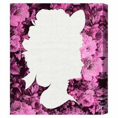 Bring a touch of glamour to your living room or den with this eye-catching canvas print, showcasing the silhouette of a Victorian woman laid over a floral backdrop.  Product: Wall artConstruction Material: Canvas and woodColor: Features:  Limited open edition with certificate of authenticity by the artist  Made in the USA Arrives ready to hang with all hardware included   Cleaning and Care: Dust lightly using a soft, clean, lint-free cotton cloth