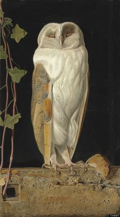 William James Webbe (fl.1853-1878), The White Owl, 'Alone and warming his five wits, The white owl in the belfry sits,' signed with monogram and dated '1856'