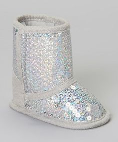Take a look at this Silver Sequin Boot by Stepping Stones on #zulily today!