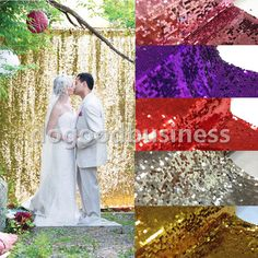 5FT*30FT Gold Sequin Photo Backdrop,Wedding Photo Booth, Photography Background #UnbrandedGeneric