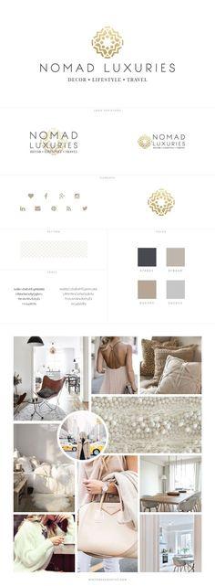Custom Blog Design for Lifestyle Blog, Nomad Luxuries - logo design, wordpress theme, mood board inspiration, blog design idea, graphic design, branding