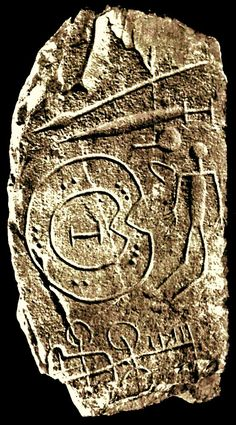 Warrior Stelae with Shield, Nuraghic civilization.