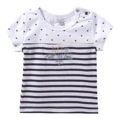 T-Shirt Blanc Absorba, Vêtements Bébé Fille 0-4 ans