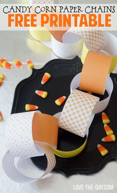 FREE Printable Candy Corn Paper Chain