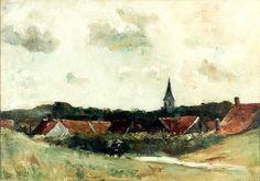 Rote Dächer, Ansicht von Domburg, Lesser Ury, 1912