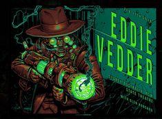 Eddie Vedder Poster - 11/02/2014 - NSW State Theatre - Sidney - Australia