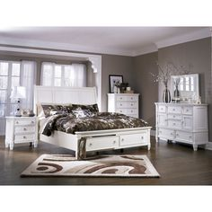 I want this bedroom furniture!  Prentice Bedroom Set by Ashley Furniture Home Store