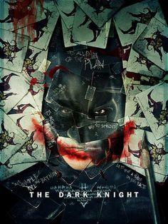 De todos los posters que salieron de The Dark Night, este es que mas me gusta. Creepy.....
