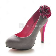 Suede Stiletto Heel Pumps / Platform With Flower Special Occasion / Wedding Shoes (More Colors Available)