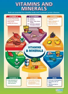 Vitamins and Minerals Poster