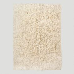 One of my favorite discoveries at WorldMarket.com: Flokati Wool Rug, Ivory