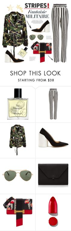 """""""Striped Pants"""" by edita1 ❤ liked on Polyvore featuring Miller Harris, Dolce&Gabbana, Off-White, Jacquemus, Givenchy, Valextra, Prada, Rodin, Kenneth Jay Lane and stripedpants"""