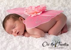 Baby photo idea~Newborn Tiny Fairy Wings for Infant Photo Props & Pictures - 1010