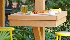Post-Mounted Patio Table