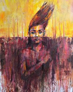 """""""Deeply Rooted"""" - is not for everyone, but everyone can interpret what they want. Some will agree with you, while others cutting your roots may want. What are your roots about? where do you want to sow them now? #bipoc #bipocart #socialchange #roots Original Artwork, Original Paintings, Agree With You, Portrait, Roots, The Originals, Canvas, Art, Tela"""