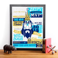 Team of Destiny Print by Tad Carpenter for Made in the Middle City Illustration, Kansas City, Destiny, Screen Printing, Hero, Carpenter, Creative, Heaven, Middle