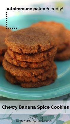 Allergen-free Banana Spice Cookies use gelatin as an egg substitute! #paleo #glutenfree #autoimmunepaleo