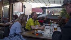 Jake Shumack (centre), smokes a cigarette in the courtyard of the Carlisle Hotel, Newtown. Sydney Restaurants, Anti Smoking, Carlisle, News Articles, New Recipes, Centre, Smoke, Restaurants In Sydney, Smoking