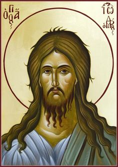 St John the Forerunner by Julia Bridget Hayes Canvas Prints, Framed Prints, John The Baptist, Religious Icons, Orthodox Icons, Art Pages, Saints, Wall Art, Artwork