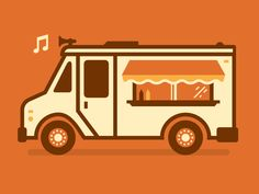 I scream, you scream, we all scream for food trucks <br> Making some illustrations for a Fall Food Truck Festival. Retro Recipes, New Recipes, Food Truck Party, Truck Crafts, Food Truck Festival, Pink Truck, Little Blue Trucks, Food Truck Design, Truck Interior