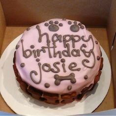 Our favorite peanut butter dog cake and other fun things to make your dog's day special.