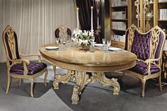 Classic table / wooden / rectangular - PRESTIGE - MEDEA
