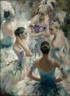 Birds of Paradise. Anna Vinogradova (Russia, 1975-). Oil on canvas.Vinogradova's father was a renowned R - via: books0977: - Imgend