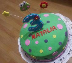 Frog fondant cake