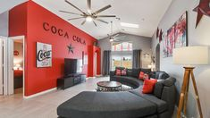 """The Coca Cola Villa"" with The Luxury Villas Orlando. Vacation Rental Luxury Home Villa Orlando, Florida, Near The Walt Disney World and Universal Studios. Orlando Florida, Orlando Vacation, Vacation Home Rentals, Vacation Villas, Jacuzzi, Universal Studios Parking, Starwars, Mickey Mouse, Disney Bedrooms"