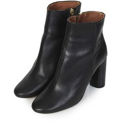MAGNUM Heeled Boots (1.005 DKK) ❤ liked on Polyvore featuring shoes, boots, black, heels, topshop, topshop shoes, black heeled shoes, black boots and kohl shoes