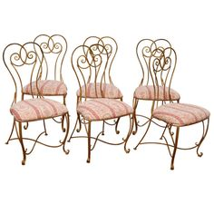 Set of Six Wrought Iron French Bistro Chairs | 1stdibs.com