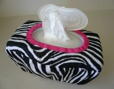 Large Wipe Case CoverReusableWild Thing with Hot Pink by bump2baby, $14.99