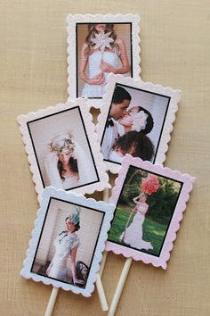 frosted photo cupcake topper, this could be cute for gift wrapping too!
