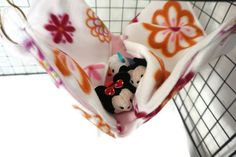 New to CreatedbyLauraB on Etsy: Rat hammock pink hammock flowers hammock pocket hammock fleece cage accessories pet sleeping bag wire cage accessories rat bed (17.00 USD)