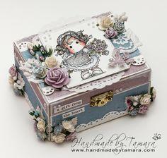 Handmade by Tamara: Tilda hiding rose bouquet wooden box