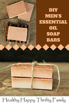 DIY Men's Essential Oil Soap Bars – Healthy Happy Thrifty Family These men's essential oils soap bars make a great gift for father's day, birthdays and Christmas Homemade Soap Recipes, Homemade Gifts, Diy Gifts, Homemade Things, Diy Savon, Mens Soap, Diy Bathroom, Essential Oils Soap, Soap Making Supplies