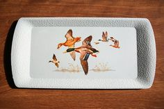 Breakfast Tray of migrating ducks