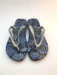 bcdf01d8b havaianas Women s Flip Flops Blue Size 4 5 35-36 Rubber Sandal