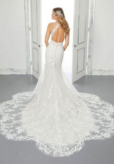 Bali Wedding Dress, Mori Lee Wedding Dress, Bridal Wedding Dresses, Wedding Dress Styles, Designer Wedding Dresses, Bridesmaid Dress Stores, Chantilly Lace, Bodice, Neckline