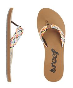I have these too! so cute! Reef Mallory Scrunch Style Sandal   Reef Girls Sandals #reef #flipflop #