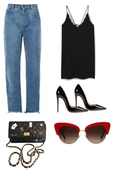"""My basic® n•3"" by bibidm on Polyvore featuring mode, MANGO, Chloé, Christian Louboutin, Chanel et Dolce&Gabbana"