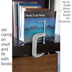 C-Clamp Book Ends ... thesaltypineapple.com